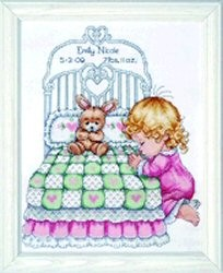 Bedtime Prayer Girl Sampler