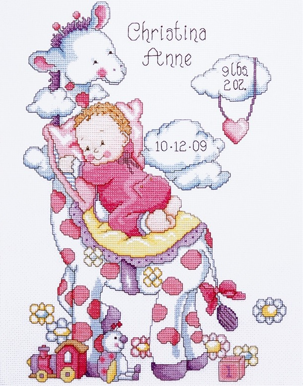 Giraffe Baby Girl Sampler