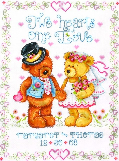 Two Hearts Wedding Sampler