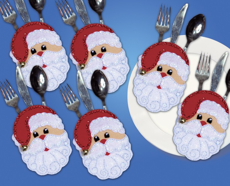 Father Christmas Silverwear Holders