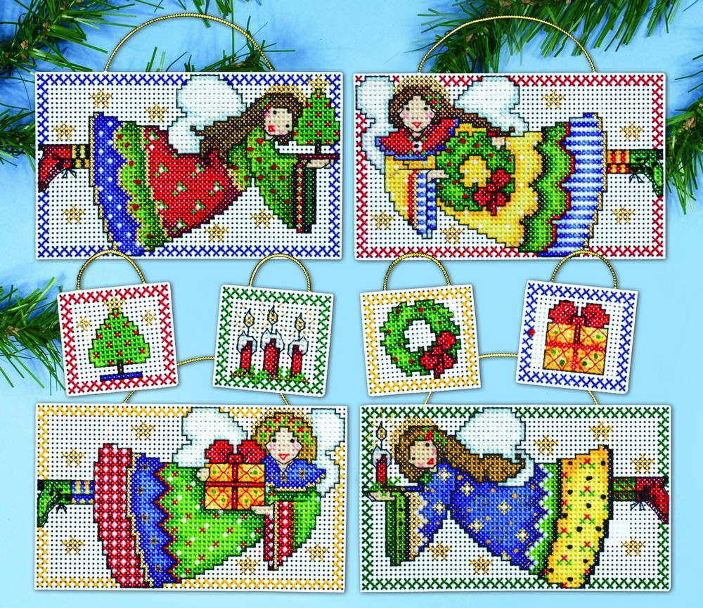 Folk Art Angel Ornaments