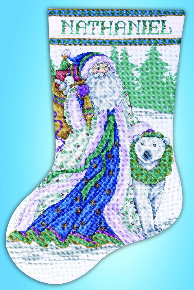 Santa and Polar Bear Stocking