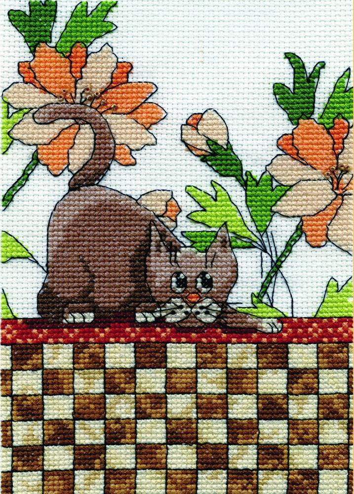 Brown Checkered Cat