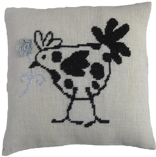 French Hen Value Cushion Front
