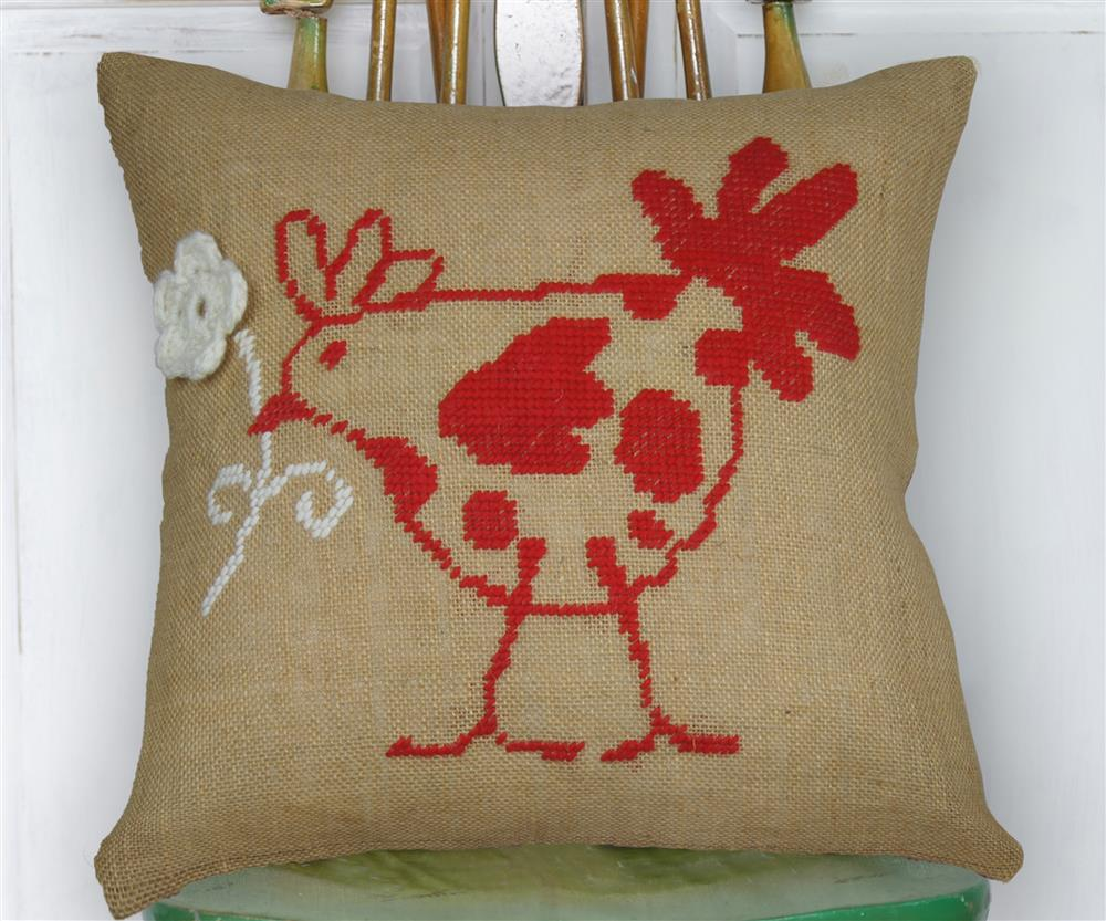 Flower Hen Value Cushion Front