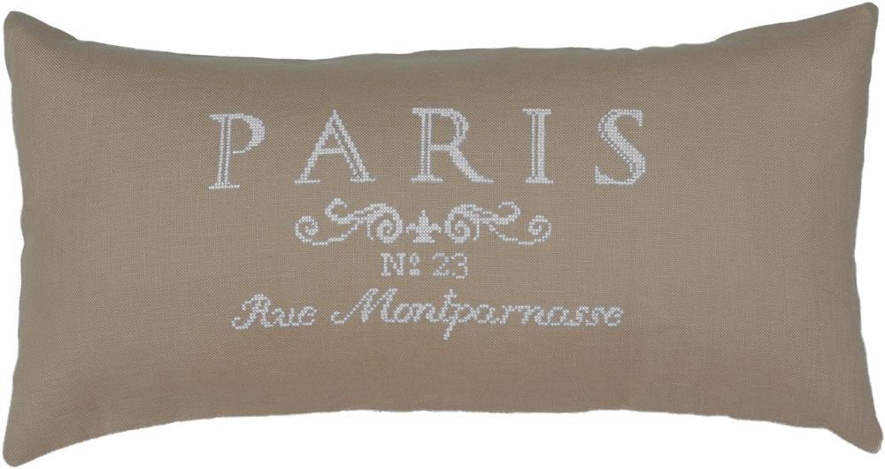 Paris in White Value Cushion Front