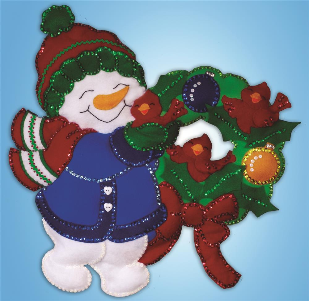 Snowman Wreath Wall Hanging