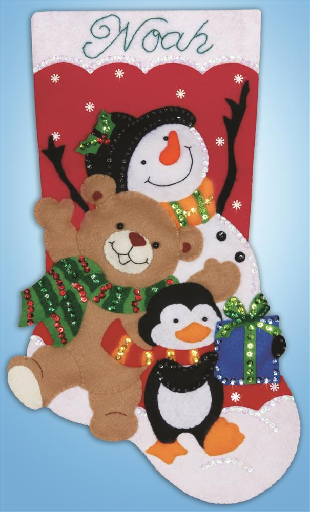 Holiday Friends Stocking