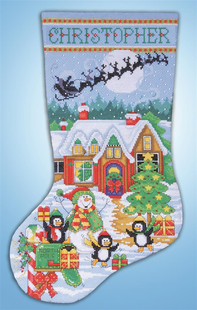 Penguin Party Stocking