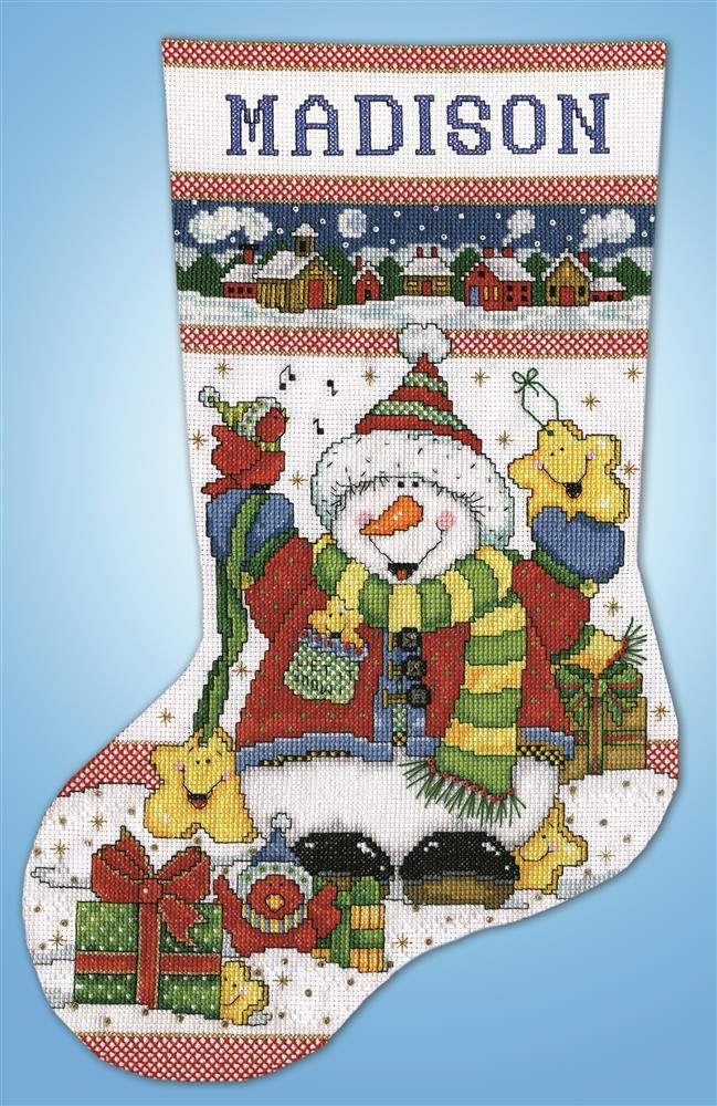 Snowman Fun Stocking