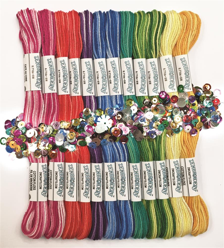 Zenbroidery Variegated Trim Pack