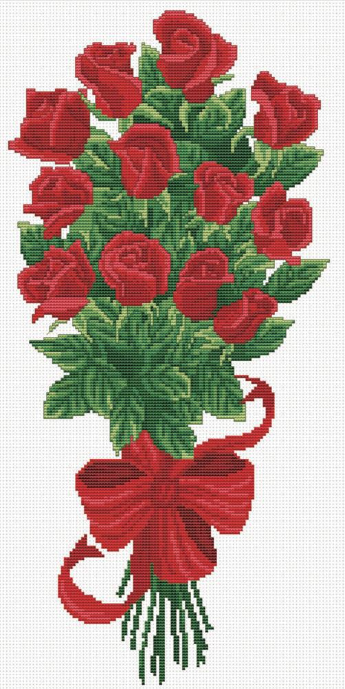 Bouquet of Red Rose Buds