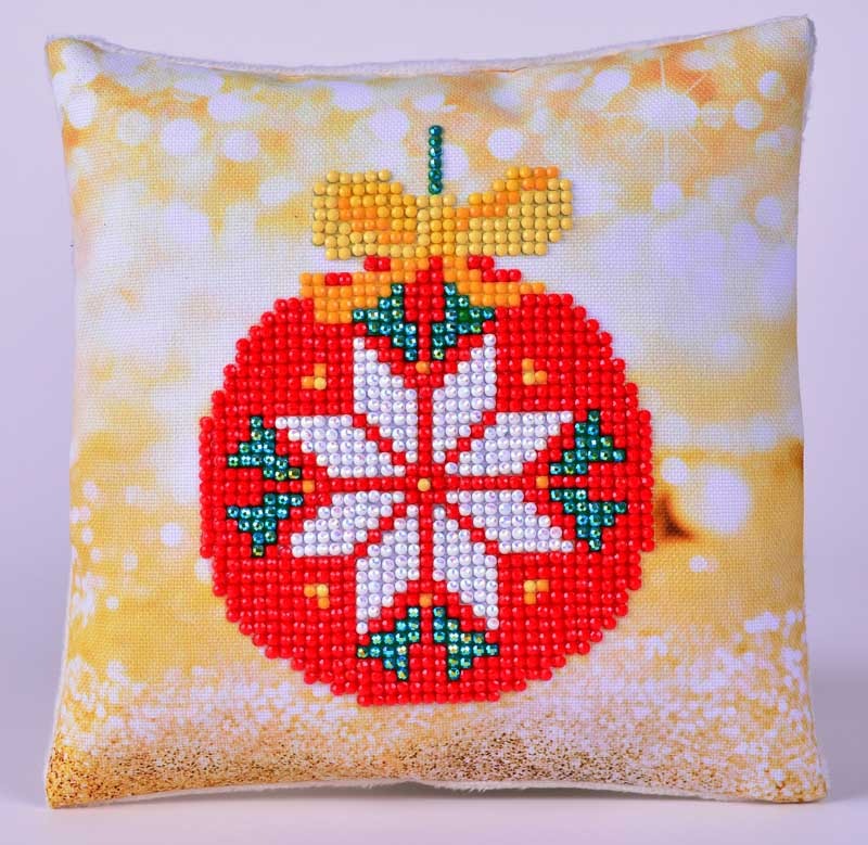 Red Bauble Pillow