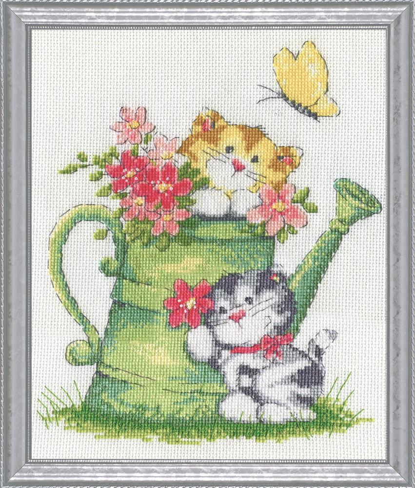 Watering Can Cats