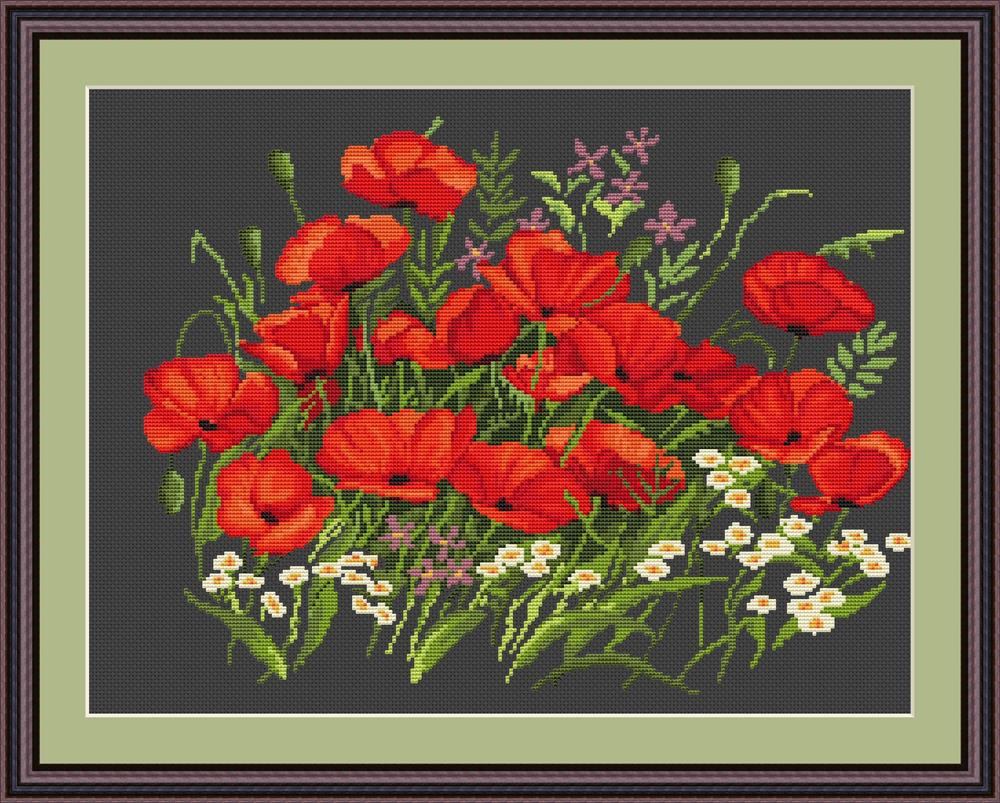 Poppies II - Petit Point