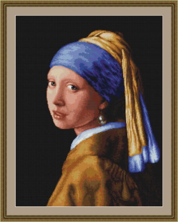 Lady with Pearl Earring - Petit Point