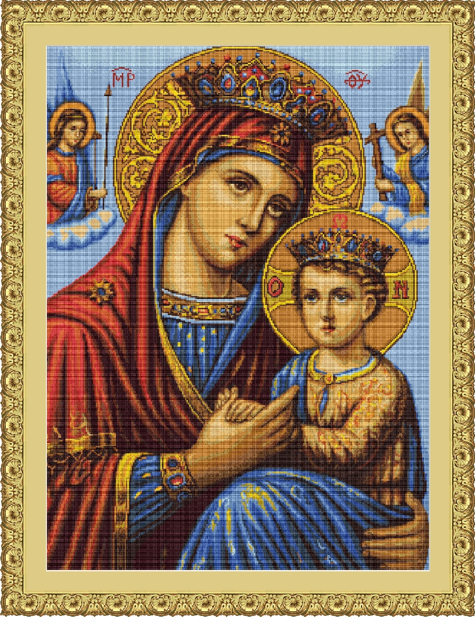 Icon Mother and Son - Petit Point