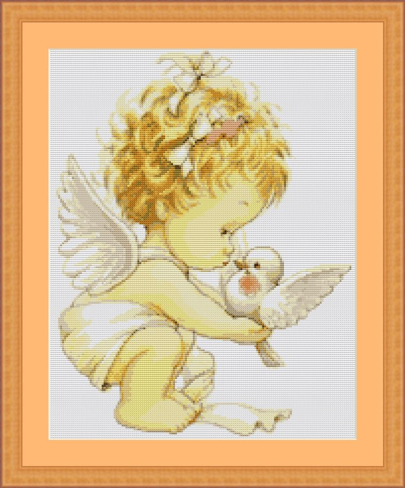 Angel with Dove - Petit Point