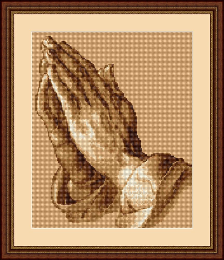 Praying Hands - Petit Point