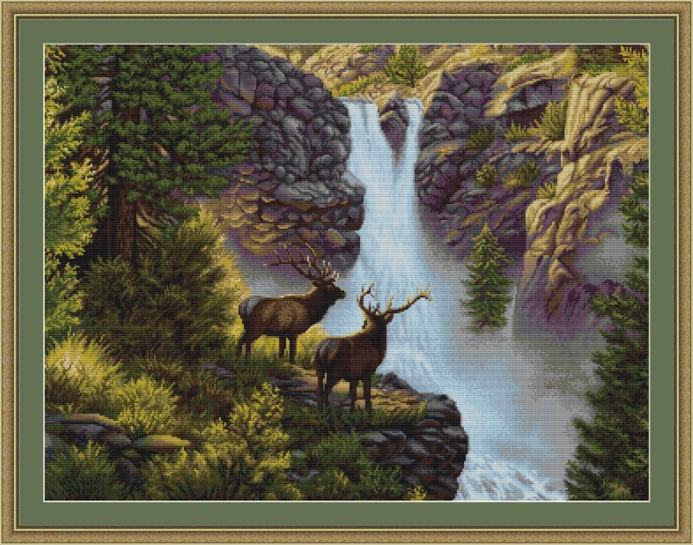 Waterfall - Petit Point