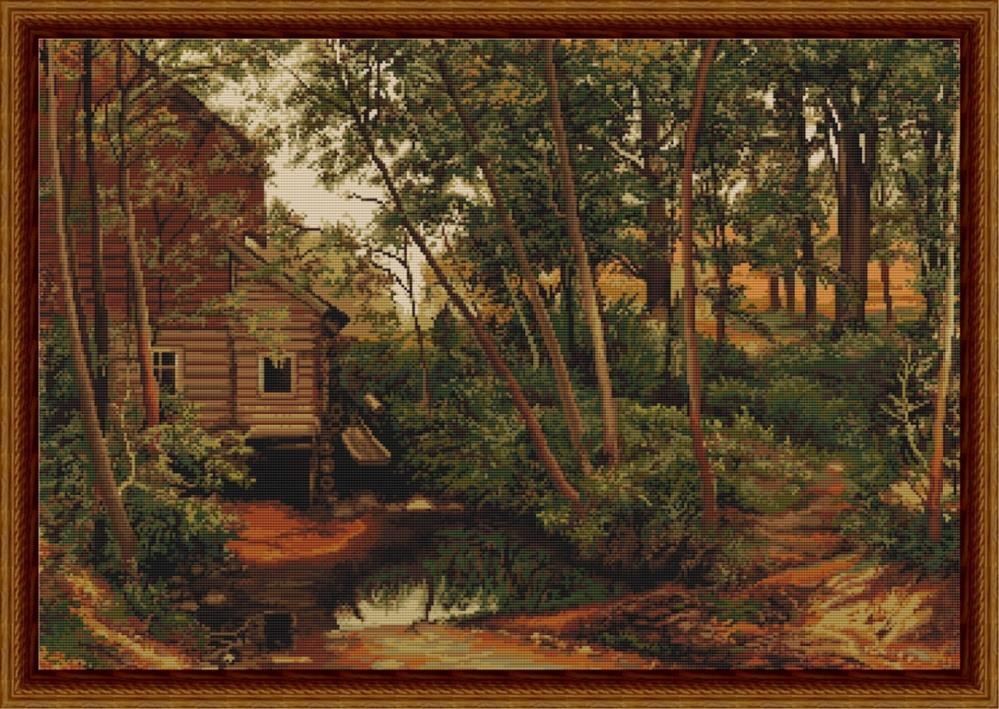 Cabin in Woods - Petit Point