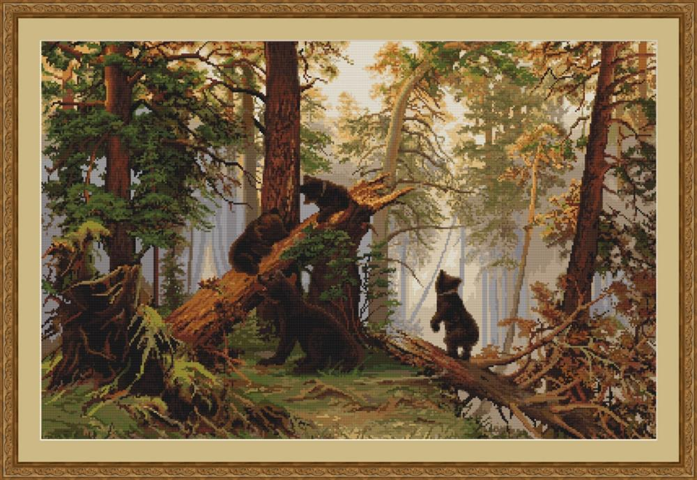 Morning in a Pine Forest - Petit Point