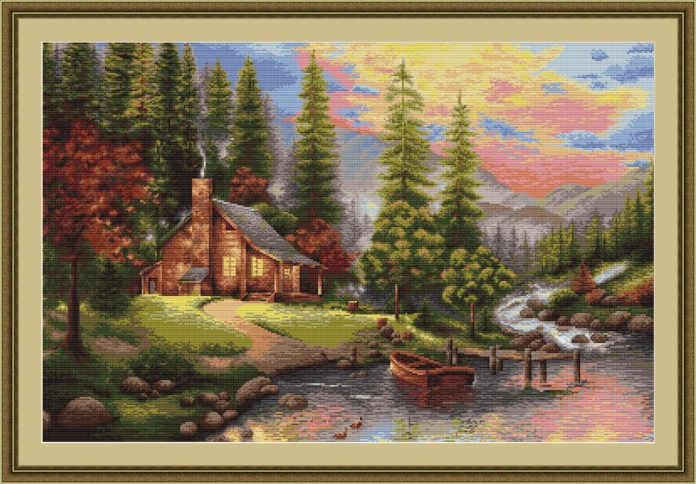Mountain Cabin - Petit Point
