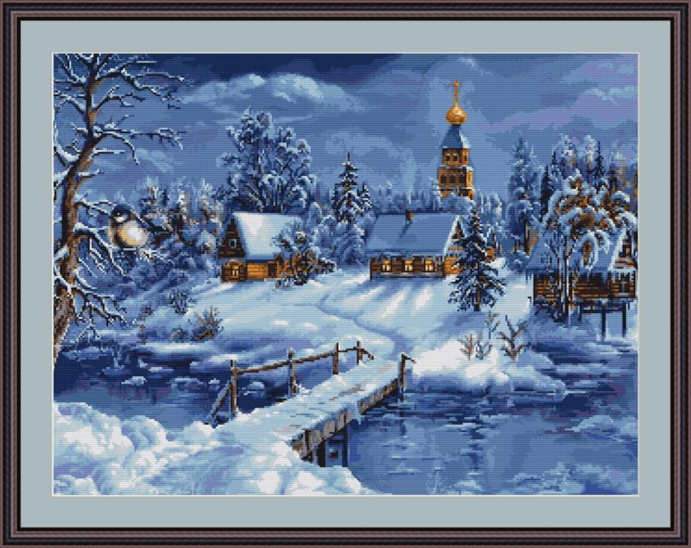 Winters Landscape - Petit Point