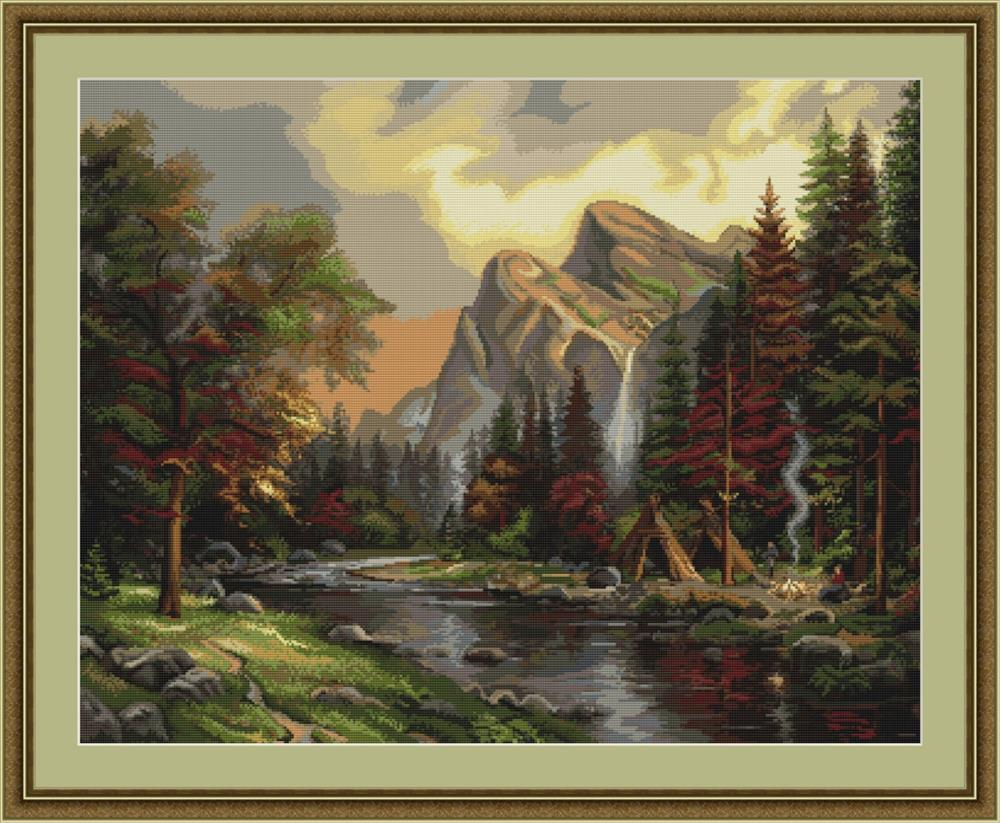 Mountain Picnic - Petit Point