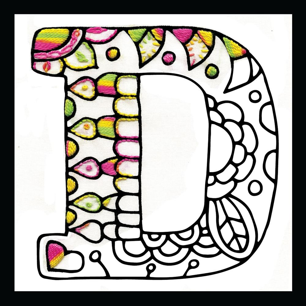 Zenbroidery - Letter D