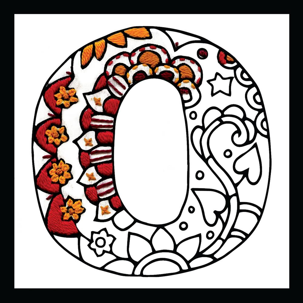 Zenbroidery - Letter O