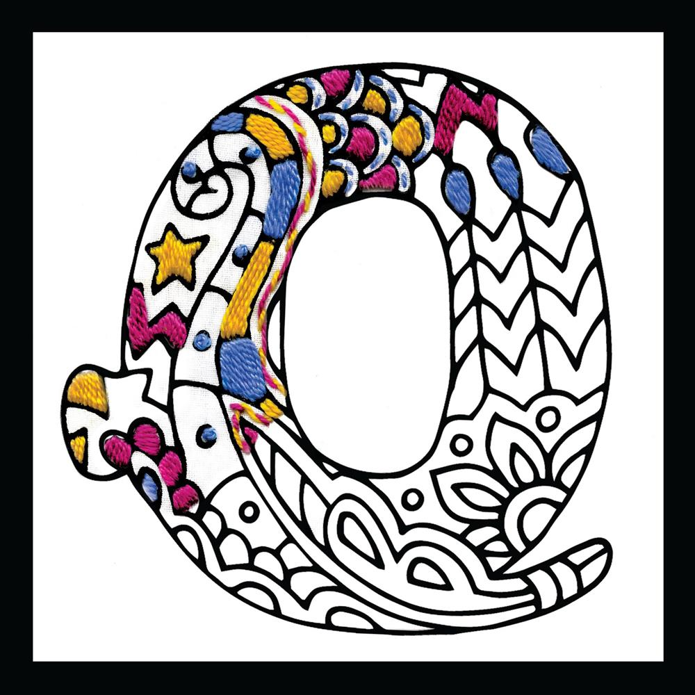 Zenbroidery - Letter Q