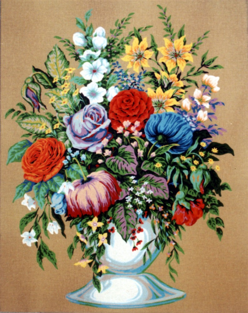 Bouquet in a White Vase