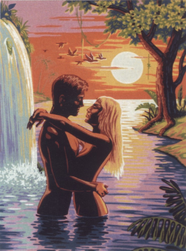 Couple by the Waterfall