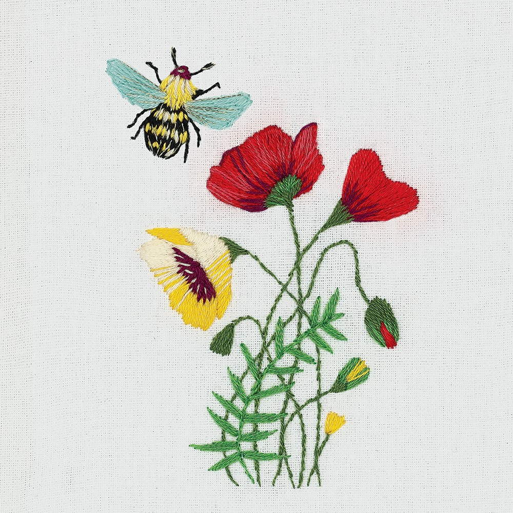 Bee and Poppies