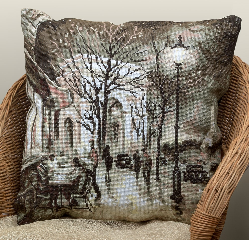 Nocturnal Lights of Paris Pillow