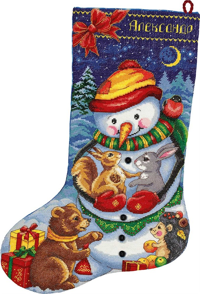 Snowman Friends Stocking