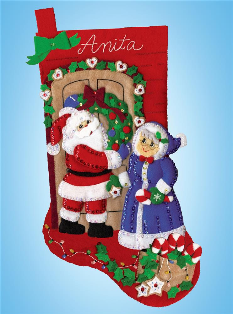 Mr and Mrs Claus Stocking