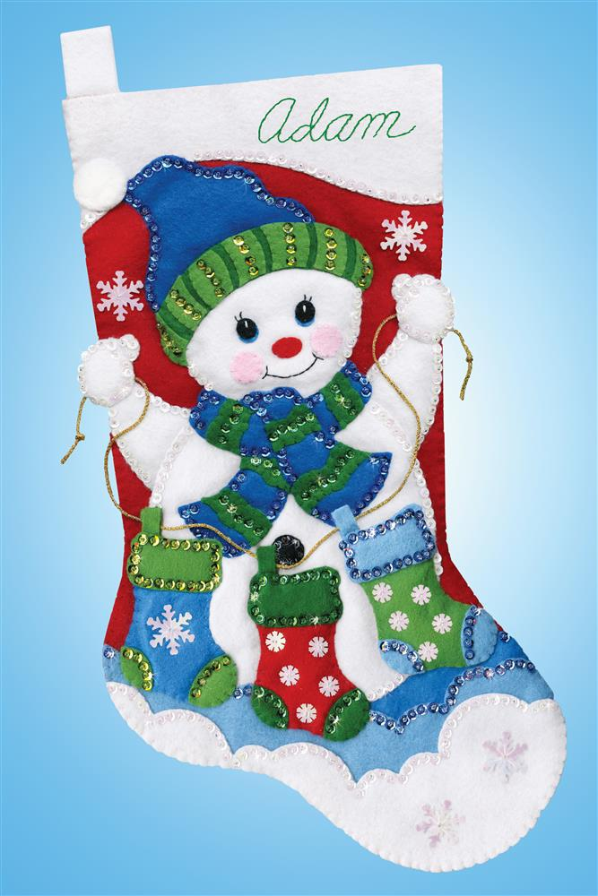 Snowman with Stockings