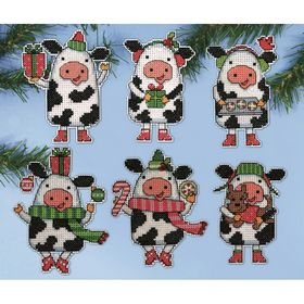 Christmas Cow Ornaments