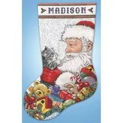 Santa and Kitten Stocking
