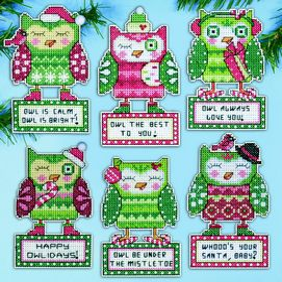 Happy Owlidays Ornaments