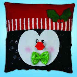 Penguin Button Pillow