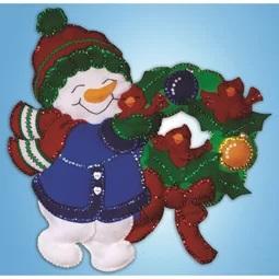 Snowman Wreath Wall Hanging