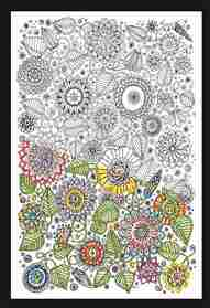Zenbroidery Printed Fabric - Floral