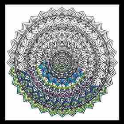 Zenbroidery Printed Fabric - Mandala