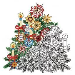 Zenbroidery Printed Fabric - Christmas Tree