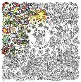 Zenbroidery Printed Fabric - Joy to the World