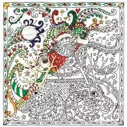 Zenbroidery Printed Fabric - Santa's Sleigh