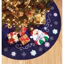 Snowflake Santa Tree Skirt